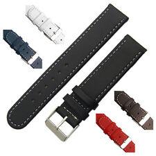 Cinturino in pelle fascia contrasto cucito Scelta di Colori 16mm 18 mm 20mm