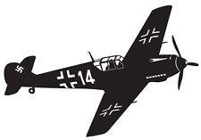 WW2 era messerschmidt fighter vinyl wall sticker military aviation vintage decal