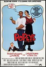 Popeye 1980 Movie Poster Canvas Wall Art Film Print Robin Williams