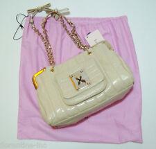 "BNWOT:BEAUTIFUL LUELLA LEATHER BAG ""SKI FURY BOXY PATENT"" stone colour"