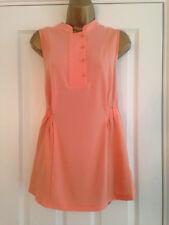 BNWT NEXT MELOCOTÓN Botón Cuello Blusa Prenda para el torso Sin mangas de color naranja