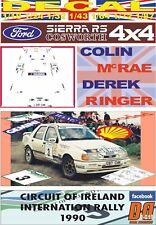 DECAL FORD SIERRA 4x4 RS COSWORTH C. MCRAE C. OF IRELAND R. 1990 3rd (01)