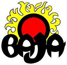 "#G130 (1) Baja Sun Yellow Boat Logo Decal Sticker Fully Laminated 8""-48"""