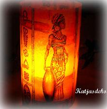 Lanterna a Vento decorazione tavolo Africa africano DONNE maschere