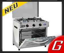 Kleinküche Gas-Backofen mit 2 Kochstellen, Gaskocher Camping, Mini-Ofen, Gasherd