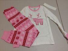 NWT Gymboree Christmas Girls Gymmies Fair Isle Reindeer Deer Pajama Set 7,12