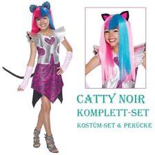 CATTY NOIR KOSTÜM & PERÜCKE Karneval Kinder Monster High Katzen Manga Japan