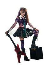 Gothic Zombie Punk Rocker EMO Corpse Fancy Dress Girls Kids Halloween Costume