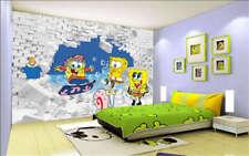 SpongeBob SquarePants und Patrick star 3D Voll Wandgemälde Foto Tapete Drucken Z