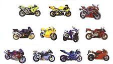11 Motorcycles Motorcycle Motor Bike Select-A-Size Ceramic Waterslide Decals Tx