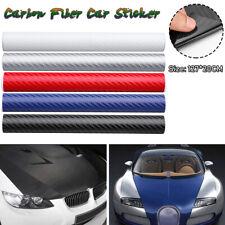 3D Carbon Fiber Vinyl Car Wrap Sheet Roll Film Sticker Matte Decal 127x30cm NEW