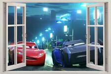 Cars Movie 3 Mcqueen Jackson Storm 3D Window Decal Wall Sticker Art Disney J255
