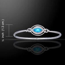 Celtic Knots Elegant .925 Sterling Silver Bangle Bracelet by Peter Stone