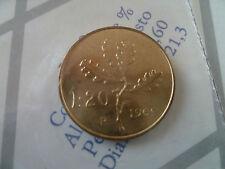 20 LIRE QUERCIA  DAL 1969-2001-FDC