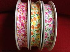 Imprimé fleuri 12 mm pré-Fold Lace Edged Coton Bias Binding-vendu au mètre