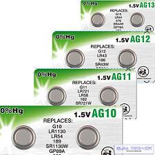 2 x Camelion libre selección ag0-ag13 Alkaline relojes batería pila de botón blister