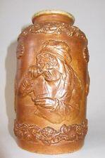POT A TABAC XIX è GRES DE BAUVAIS BEAUVAIS VIEILLE FEMME PRISANT tobacco jar