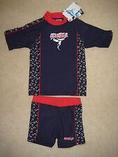 Aquaskin by Dudeskin UPF 50+ Sun Suit Swimming Costume 1-7 years Rashvest