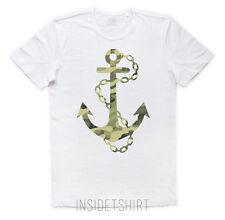 MAGLIETTA ANCORA MIMETICA maglia marina marines camo anchor sailor T-SHIRT MAN