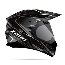 Zoan Synchrony Duo-Sport Hawk Black Silver Dual Lens Adventure Snowmobile Helmet