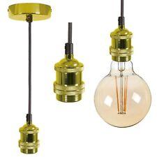 Vintage Gold Colgante Trenzado Soporte + LED 95mm Filamento Globo / Lámpara