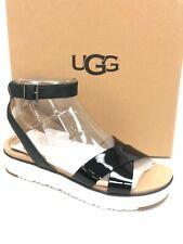 UGG Australia Women's Tipton Sandals Black Leather 1102597 Shoes Platform
