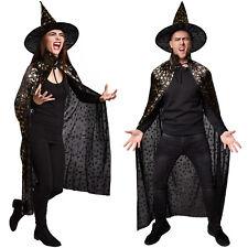 Unisex Set Hut und Umhang Halloween Karneval Fasnacht Erwachsene Party Feier