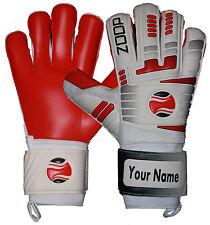 Zoop Pro High Quality Goalkeeper Hybrid Roll Finger Saver Gloves Size 8/9/10.