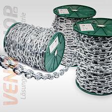 Stahlkette verzinkt kurzgliedrig langgliedrig Rundstahlkette Eisenkette 2-6mm