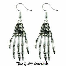 TFB - HORROR HANDS DANGLE EARRINGS Halloween Funky Gothic Spooky Skeleton Bones