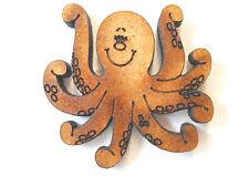 10x en bois octopus formes gift tag carte artisanat rendre scrapbook embellishment art