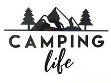 Camping vinilo autoadhesivo con la vida-Excelente para coches, autocaravanas, caravanas