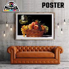 POSTER  FRUIT CESTO  FRUTTA CUCINA STAGIONE  CARTA FOTOGRAFICA35x50 50x70 70x100