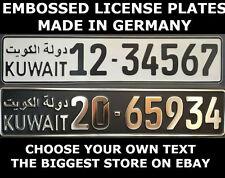 Kuwait Arab Arabic UAE U.A.E Euro License Plate European Number Plate Custom Alu