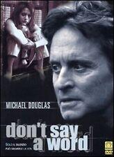 Dvd **DON'T SAY A WORD** con Michael Douglas Ediz. Speciale Slipcase nuovo 2002