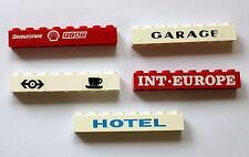 Lego 3008 Bausteine bedruckt 1x8  Hotel Garage große Auswahl Int. Europe 06