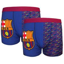 FC Barcelona - Pack de 2 calzoncillos oficiales - bóxer - niños - Con escudo