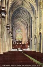 Postcard North Carolina Durham Duke University Chapel 1944