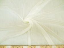 Discount Fabric nylon Tricot Ivory 15 denier Lustre SheerTM PAY305