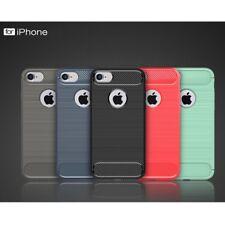 Housse etui coque silicone gel carbone pour Apple iPhone 8 + verre trempe