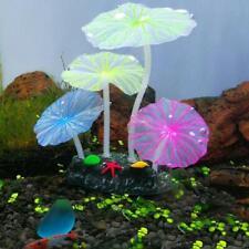 Aquarium Fish Tank Accessories Decor Silicone Coral Artificial Fake Plant LC