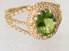 Peridot, 10KY or 14KY Gold Ladies Ring, R070-Handmade