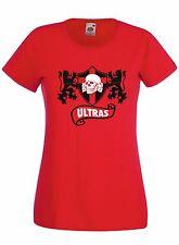 T-shirt Maglietta donna J1362 Ultras Milan Skull Fossa dei Leoni Curva Sud