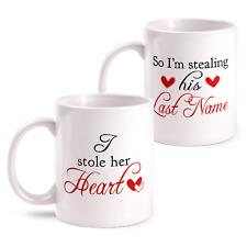 "Mrs Kaffeetasse Partnertasse Tasse Geschenk Mr /& Mrs /""Individueller Name/"""