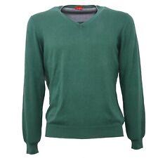 B3688 maglione uomo ALTEA cotone verde scollo v sweater men