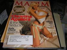 MAXIM magazine  ,march 2007 .  CHRISTINA AGUILERA  & ART OF SEDUCTION