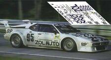 Calcas BMW M1 Le Mans 1980 95 1:32 1:43 1:24 1:18 slot decals