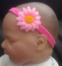BABY GIRL/REBORN DOLL SMALL DAISY 1.25 INCH HEADBAND MANY COLOURS
