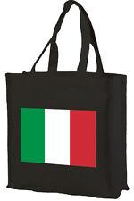 BANDIERA ITALIANA COTONE SHOPPING BAG-Scelta di Colori: NERO, PANNA, ROSA!