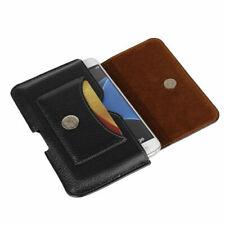 For Nokia 3 5 6 8 Black Black Genuine Leather Belt Loop Tradesman Case Cover